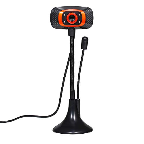 Festnight Drive-free Web Camera 480P USB Webcam with Microphone Light Supplement Lamp for Desktop Computer Laptop Plug and Play
