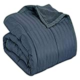 Aeolus Down Blue Jean 250 Thread Count Microfiber Down Alternative Throw Blanket