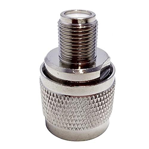 Conector de amplificador de señal, adaptador de cable de antena de 2 unids conector de antena N macho a F hembra de plata RF coaxial de cobre adaptador