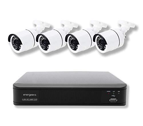 Sistema de vigilancia CCTV Full HD (4 cámaras + DVR 4 canales)