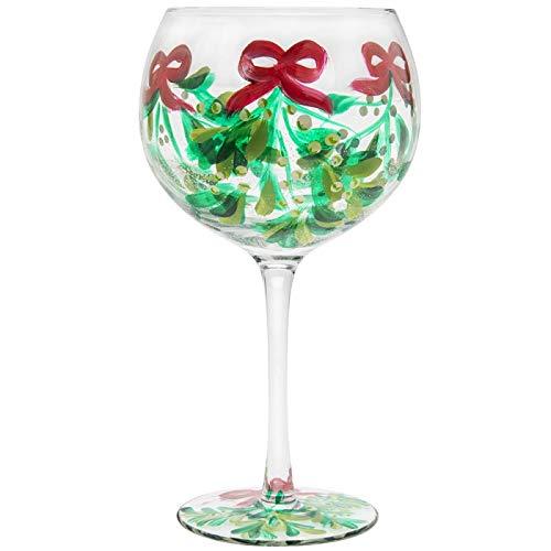 Muérdago Navidad Ginebra y Tónico Globo Gin Copa Copa Vidrio