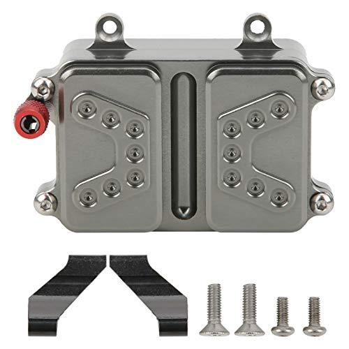 DAUERHAFT ESC Receiver Box RC Auto Receiver Box Ersatzteil Aluminiumlegierung mit Protect Electronic Devices