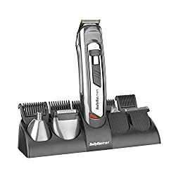Rechargeable face and body trimmer. Full charge will proved 30 minutes of use Titanium blade technology with taper control for ultimate precision Skin friendly blades for safe and gentle trimming Washable cutting heads for easy cleaning 5 interchange...