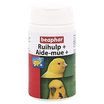 BEAPHAR – Aide-mue pour toutes les espèces d'oiseaux – Aide les oiseaux à muer – Stimule la pousse des plumes – Assure une santé optimale – Apporte vitalité – Rend le plumage sain et brillant – 50g