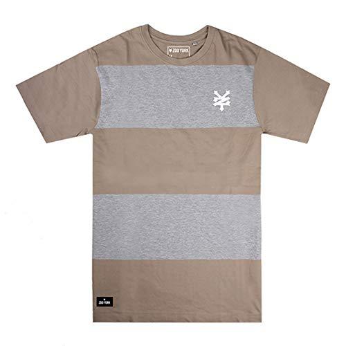 Zoo York Logo T-Shirt, Verde (Olive/Grey Heather Ogh), (Taglia Produttore: Large) Uomo