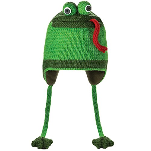 Delux Knitwits by Sesamstrasse Fergie the Frog A1063 Unisex Strickmütze, grün (green), Gr. One Size Youth/Adult