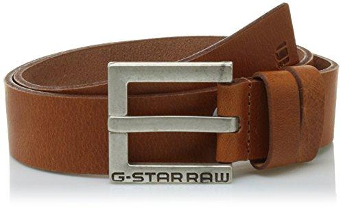 G-STAR RAW Duko Belt Cinturón, Marrón (Dk Cognac/antic Silver 8128), 115 para Hombre