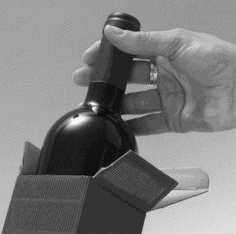 Vino Weinkarton24.com 10/Pieza Vino de Cart/ón /Fineline Caja Plegable para una Botella de Vino//Champ/án Botella del Paquete Cart/ón/