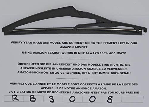 Brazo y escobilla de limpiaparabrisas trasero de ajuste exacto 30 cm RA201