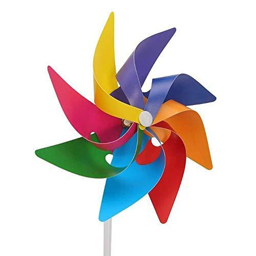 DEDC 5 pz Girandole Multicolori Fai da Te Giardino Cantiere Festa Mulino a Vento in Plastica Vento Filatore Ornamento Decorazione Giocattolo per Bambini