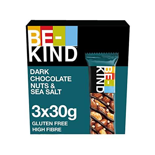 BE KIND | Dark Chocolate Nuts & Sea Salt | 90g | 3er Pack