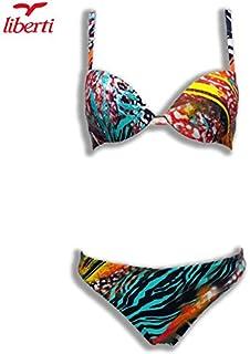 b0c49f98482d LIBERTI Costume Mare Donna Due Pezzi con Ferretto Polinesia