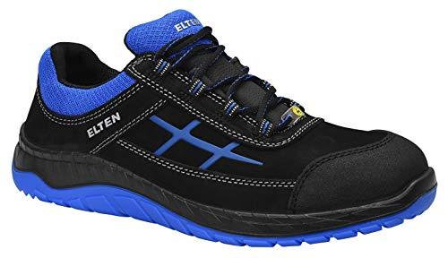 SicherheitsschuheMALVIN blue Low ESD S3, Herren, sportlich, leicht, schwarz/blau, Stahlkappe, Überkappe; Spitzenschutz - Größe 45