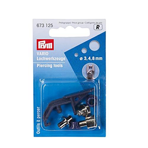 Prym 673125 Lochwerkzeuge für Vario-Zange ST 3/4/8 mm, pflaumenblau, 3 Stück