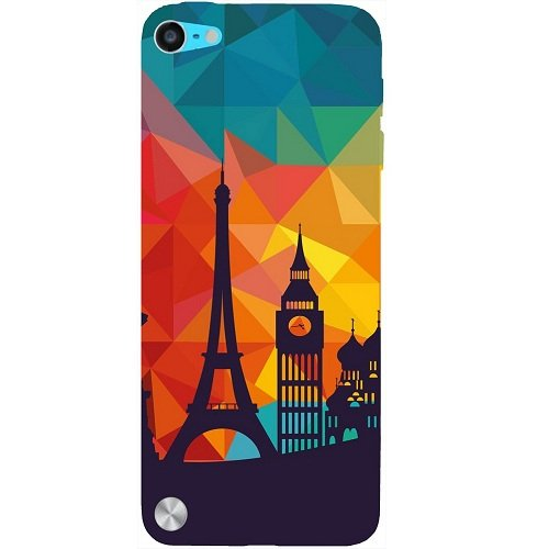 Casotec Colored Paris Design Hard Back Case Cover for Apple iPod Touch 5th Generation