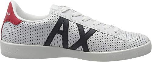 Armani Exchange Herren Sneaker, Weiß (Opt White+Navy+RED M476), 40 EU