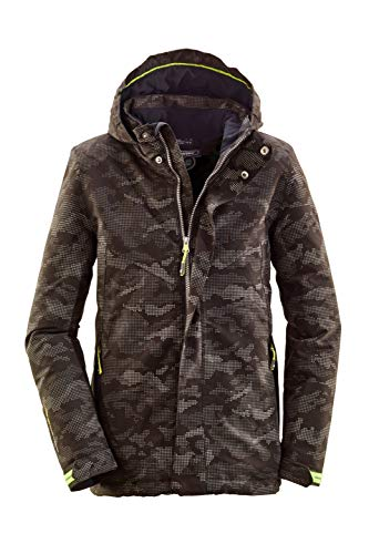 Killtec Winterjacke Jungen Relono Jr - Funktionsjacke Kinder in camouflage Optik - Outdoorjacke mit Kapuze - 10.000 mm Wässersäule, 176