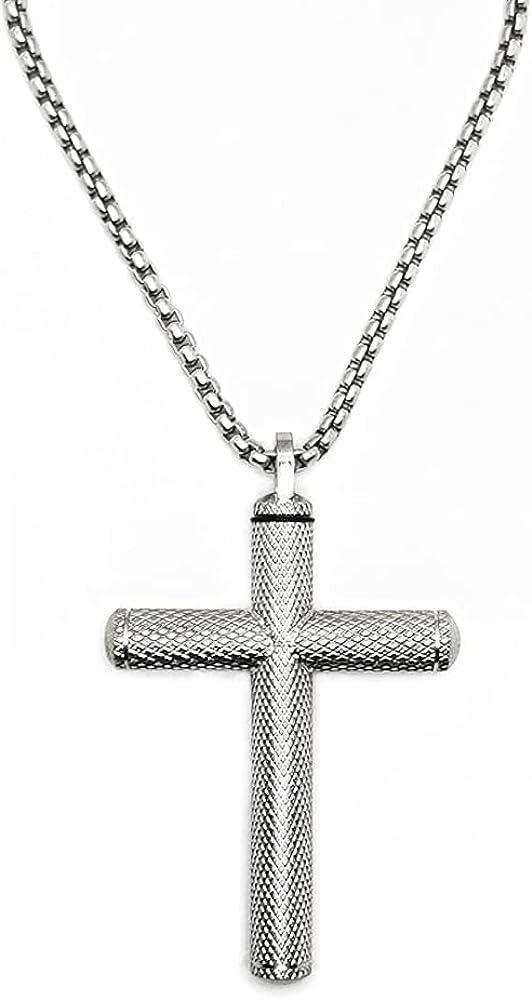ULATREE Los Angeles Mall Cross unisex Necklace for Men Stainless Steel Skull Penda