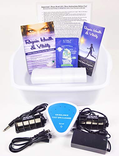 Ion Detox Foot Bath Unit for Home Use. Comes with 2 of The Strongest Super Duty Ionizer Arrays