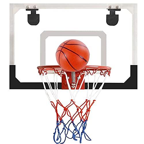 Mini Canasta Baloncesto, Kit Aro Baloncesto Montado Pared para Interiores, Regalos Cumpleaños para Niños, Niñas y Adultos, Juguetes Baloncesto