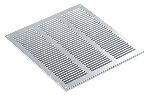 Haeusler-Shop - Rejilla de ventilación galvanizada (300 x 300 mm, con rejilla de protección contra insectos, metal)