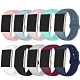 GHIJKL Sport Bands Compatible Fitbit Charge 2, Soft Silicone Replacement...