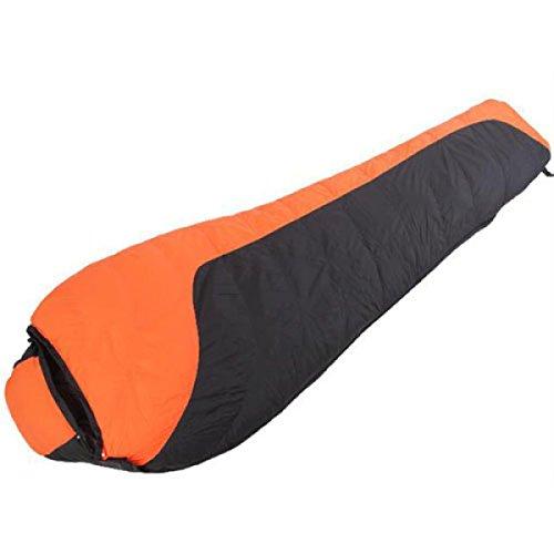 Xin.S Mummy Down Sac De Couchage Facile à Transporter Sports De Plein Air Camping Randonnée Sac De Couchage Léger Et Confortable Imperméable à L'eau. 3 Couleurs,Orange-220*80*50cm