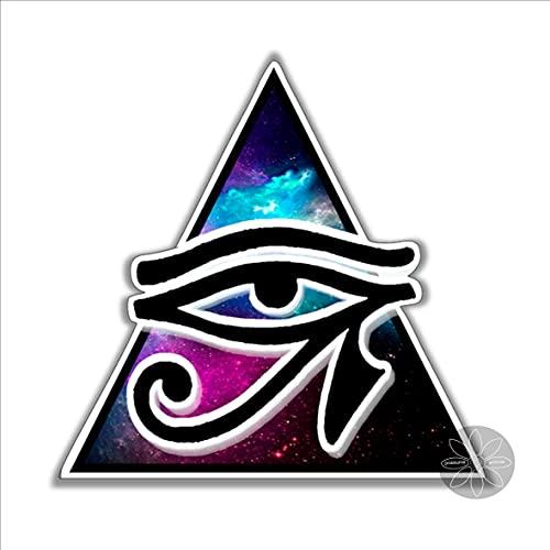 DKISEE Pegatina de vinilo Eye of Horus para coches, ventanas, espejos, ordenadores portátiles, dispositivos móviles