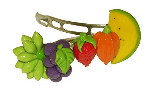 Mélange de fruits - Idée cadeau fruitée - Barrette à cheveux originale ERRO - Collection Crazy Clips