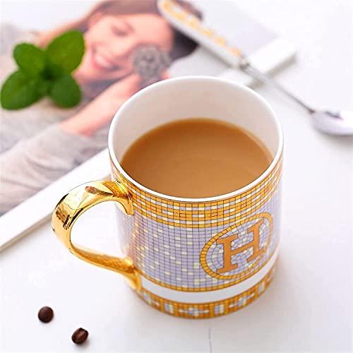 MAZ Tazas de Porcelana Tazas de Café Hueso China Coffeeware Botellas de Agua Carta de Té Vajilla Decoración de la Habitación,301 400Ml