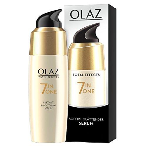 Olaz Total Effects Anti-Aging 7-in-1 Sofort Glättendes Serum 50ml, Mit Niacinamid, Pro-Vitamin B5 Und Vitamin E