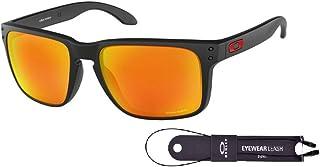 نظارات شمسية اوكلي هولبروك XL OO9417 للرجال + حزمة مع مجموعة اكسسوارات سلسلة اوكلي