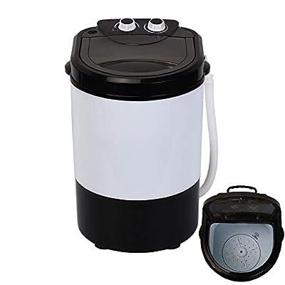 Mini Single Cylinder Washing Machine, Portable Knob Operated Small Electric Washing Machine, Household Washing Machine with Drain Basket for Washing, 4.5kg Capacity