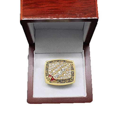 YMQUU Meisterschaftsringe für Männer, 1991 Washington Rugby Super Bowl Memorial Ring für Fans Geschenksammlung Display Andenken