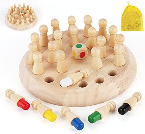 Anstore Memory Schach Holz, Memory Match Stick Schach, Schachspiel Lernspielzeug, gedächtnis-Schach, Hölzernes Gedächtnis-Schach für Kinder Frühe Lernerziehung, mit...
