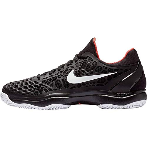 Nike Herren AIR Zoom CAGE 3 Cly Tennisschuhe, Mehrfarbig (Black/White-Bright Crimson 016), 43 EU
