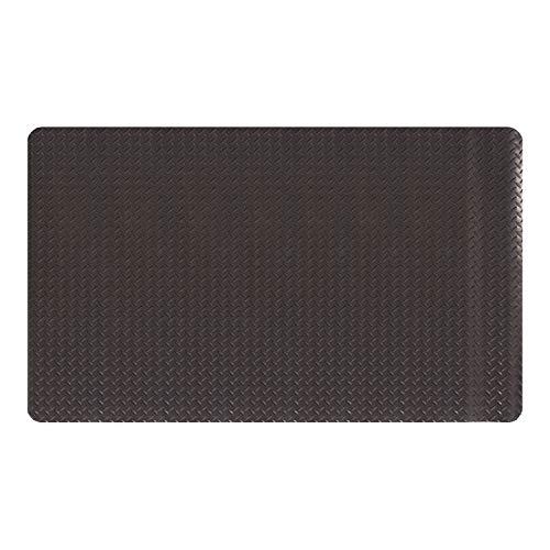 "Amazon Basics Anti-Fatigue Mat Diamond Deckplate Composite Mat 11/16"" Thick 2X3 Black"