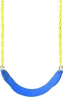 EVA Playground Garden Yard Gym Swing Seat Set with Chains Snap Hooks Kids Toy - Blue
