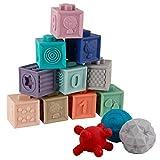 BOBXIN 15PCS Baby Blocks Toys Soft Building Blocks Sensory...
