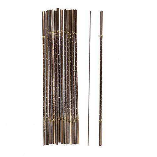 Hojas de sierra, 144 unidades Hoja de corte de sierra de acero con alto contenido de carbono para la fabricación de joyas Hojas de sierra de marquetería de hoja de cobre de alta tenacidad(0#)