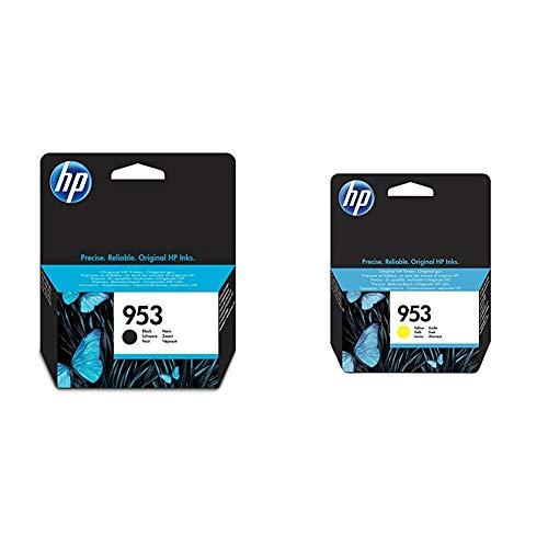 HP 953 L0S58AE, Negro, Cartucho de Tinta Original, Compatible con impresoras de inyección de Tinta + Cartucho de inyección, Color Amarillo