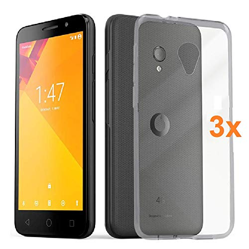 REY 3X Funda Carcasa Gel Transparente VODAFONE Smart
