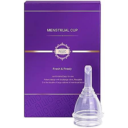 higi/énica Neborn reutilizable color morado 100/% silicona Taza menstrual para mujer