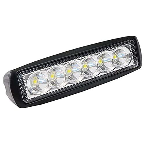 qinjun 18 W LED luz de trabajo 12 V bar foco lámpara de inundación 1260LM conducción niebla Offroad LED trabajo coche luz fácil de instalar para 4WD LED Bar vigas coches barcos