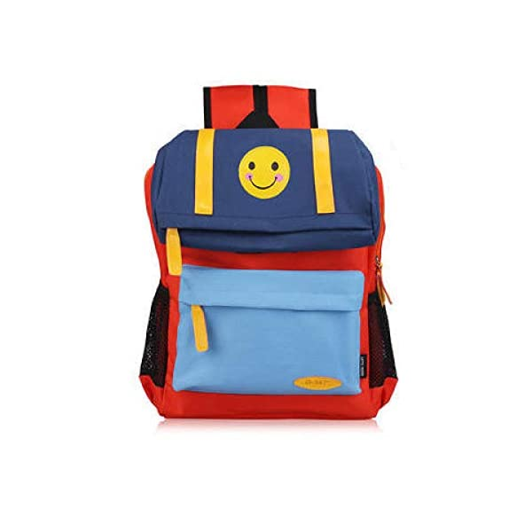 41+gHQdIY L. SS600  - FLHLH Mochila Escolar Unisex para Mochila Escolar Primaria,Mochila Escolar para niños Smiley, Mochila de Tela Oxford para Estudiantes, Transpirable y portátil, Azul