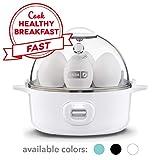 DASH Express Electric Egg Cooker, 7, White (Renewed)