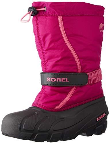 Sorel Unisex-Kinder-Winterstiefel, YOUTH FLURRY, Rojo (Deep Blush, Tropic Pink), Größe: 38
