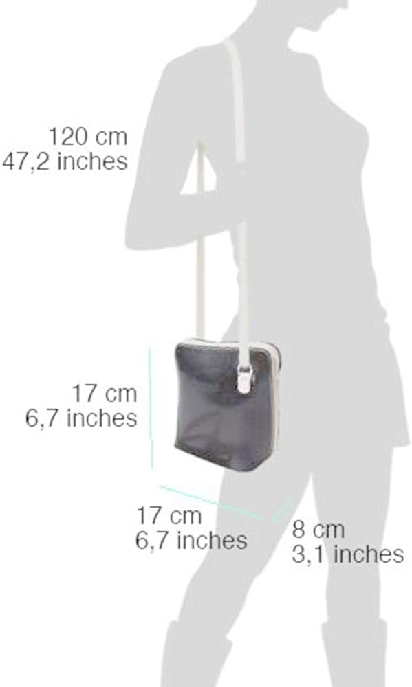 Vera Pelle Smooth Italian Leather Small Flat Cross Body Clutch Bag Cell Phone and Travel Shoulder Mini Handbag MH312