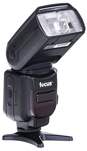 portable flash for cameras Focus Camera Professional Zoom TTL Speedlite Flash - with Built-in Transmitter/Receiver for Canon and Nikon DSLR Cameras