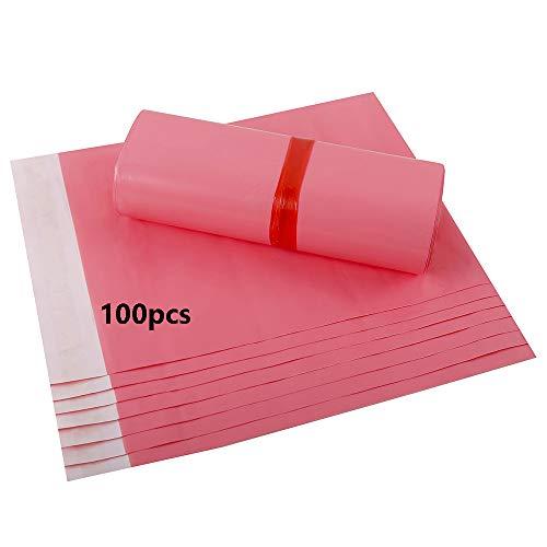 HVDHYY Bolsas para Envíos por Correo Sobres Postal Bolsa de Plástico para Envíos Postales 100Piezas 25cmX35cm B4 Rosado Polietileno Autoadhesivas Embalaje Sobre para Envios Plastico Genérico